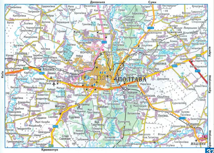 Подробная Карта Очакова