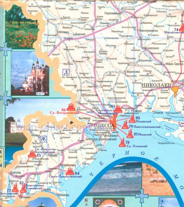 Карта православная одесской области