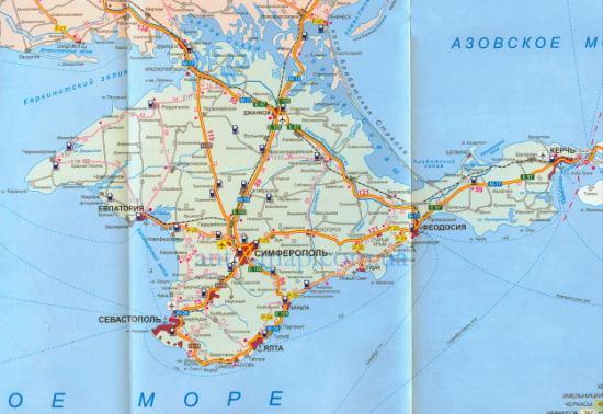 Карта железных дорог крыма