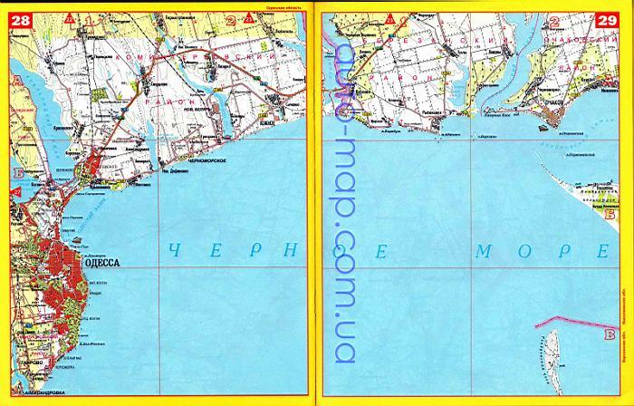 Одесской области подробная карта