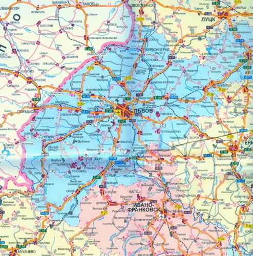 Карта дорог Львовской области. Детальная карта ...: http://auto-map.com.ua/391691.html